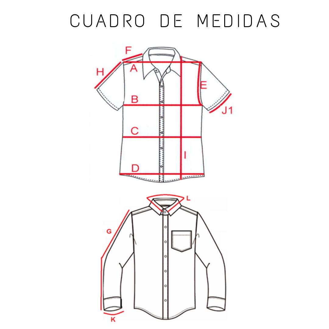 [:es]Guia de Tallas Camisa Moldería Slim[:]